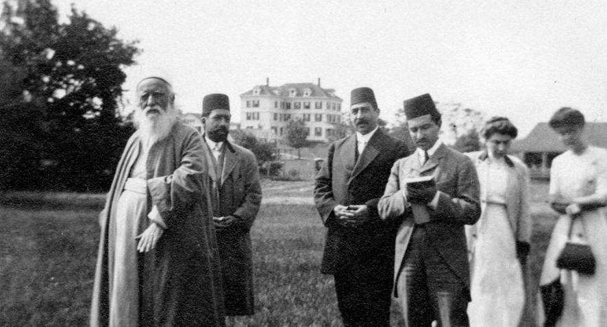 Abdu'l-Baha walking in Green Acre