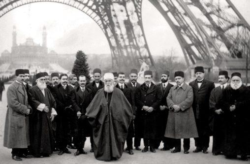 Abdu'l-Baha in Paris near Eiffel Tower