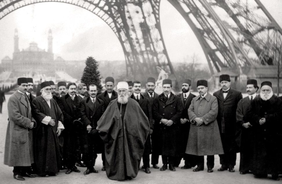 Abdu'l-Baha in Paris near Eiffel Tower
